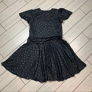 True Vintage Black Polka Dot Party Dress